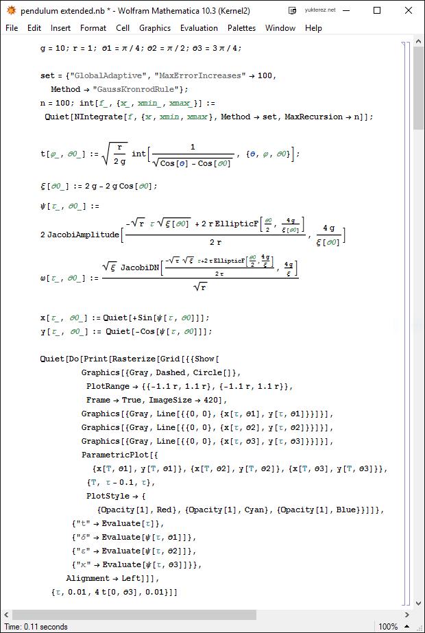 Das mathematische Pendel - Notizblock
